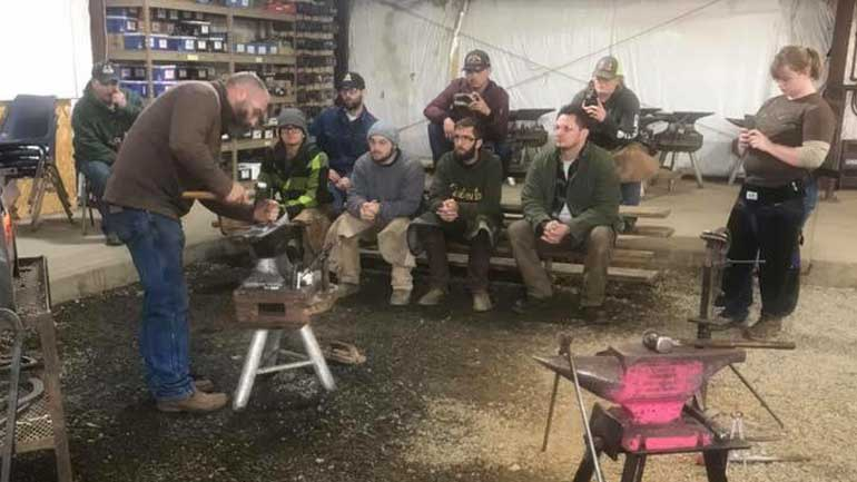Our students learning to be professional farriers